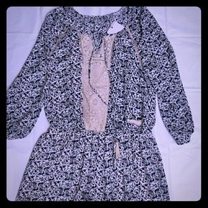 NWT DR2 Patterned Floral Print Romper Long Sleeve